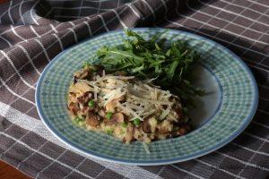 Risotto paddenstoelen en kaas