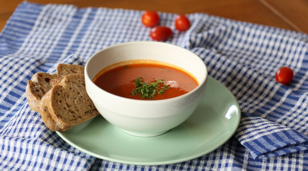 Tomaten soep, snelle versie
