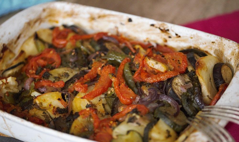 Briam (geroosterde groenten uit de oven)