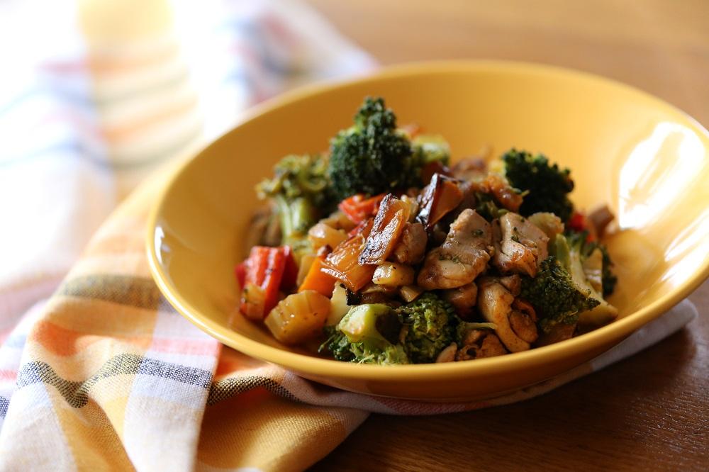Kip-broccoli-venkel-paprika pannetje