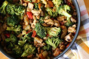 kip broccoli venkel paprika pannetje
