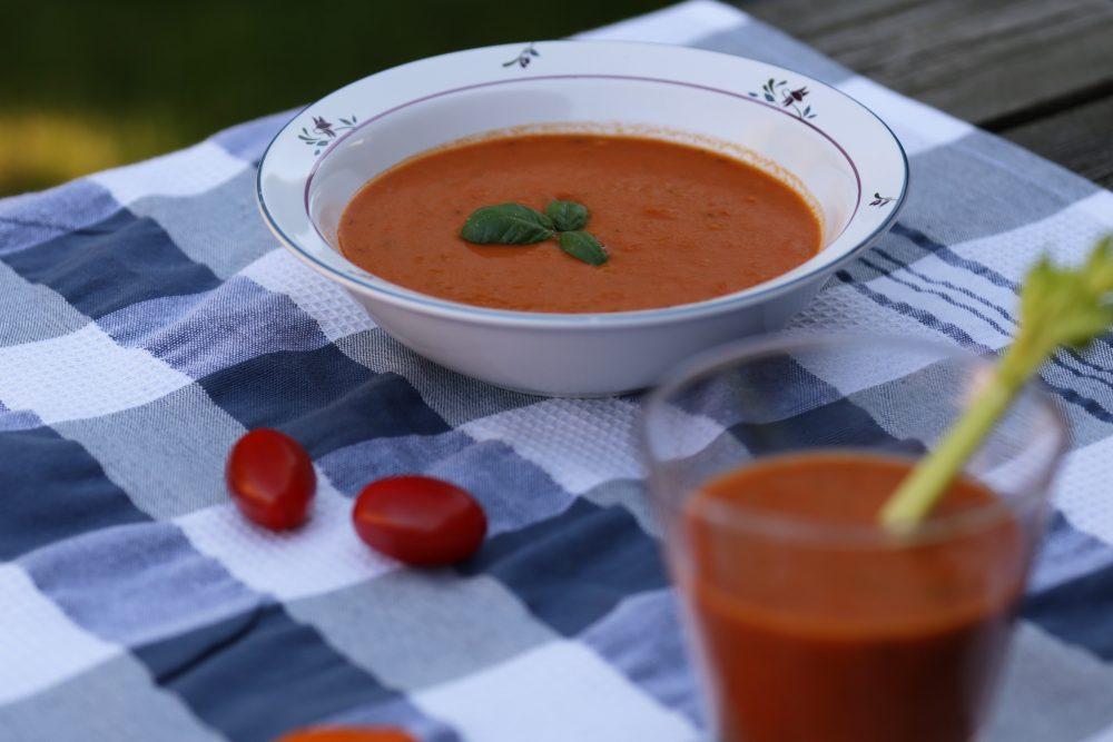 Geroosterde tomatensoep, vol en zoet van smaak!