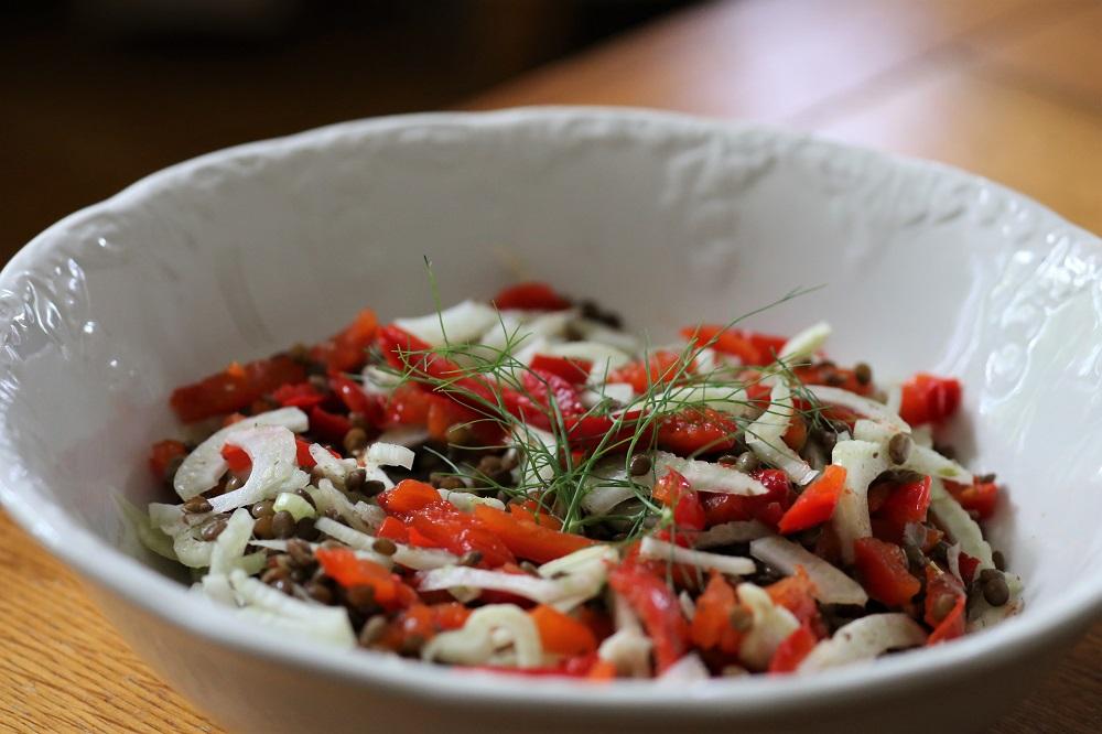 Linzen-venkel salade