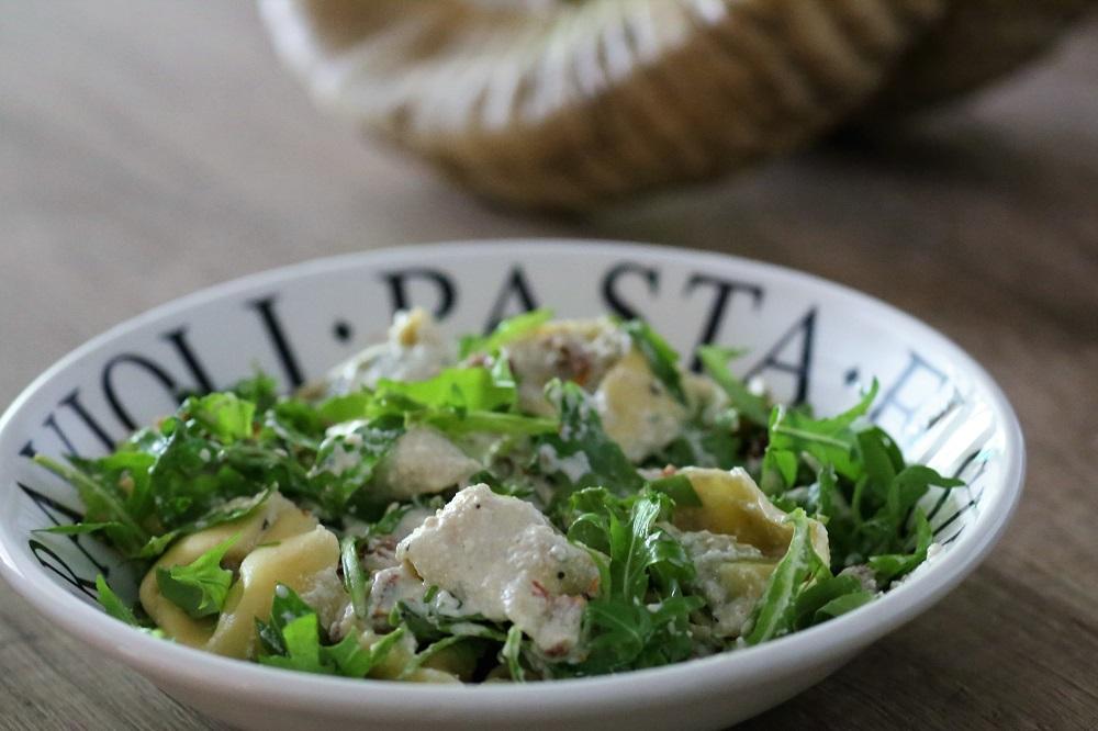 Vegetarische gevulde pasta