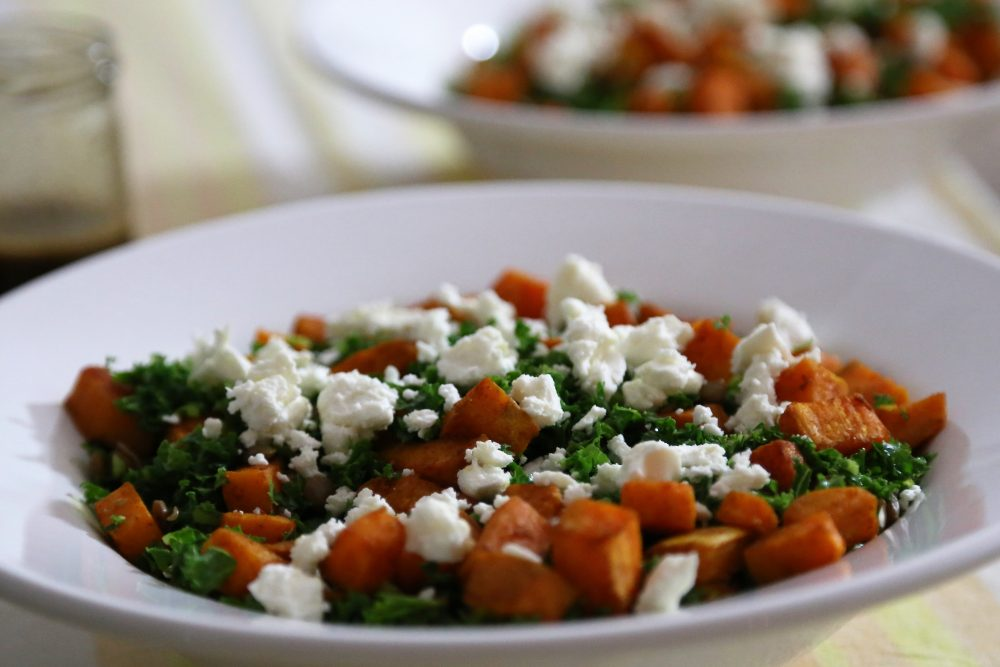 Boerenkool met linzen salade