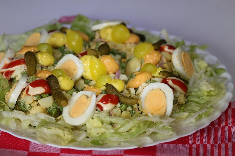 Huzaren salade, een slankere variant