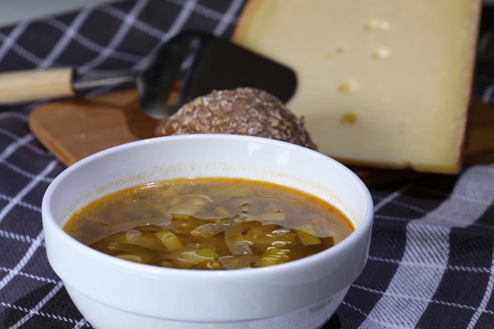 Linzen-prei soep, een vegetarische peulvruchten soep