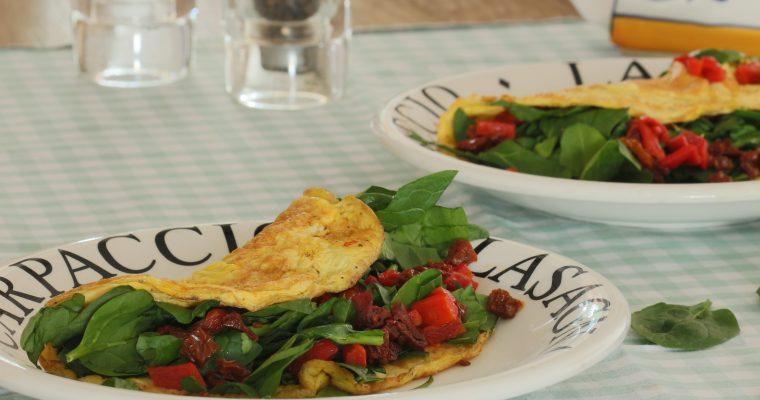 Gevulde omelet voor een lekkere lunch