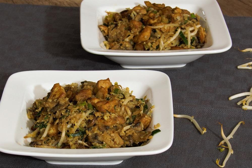Soja kip met gewokte groenten