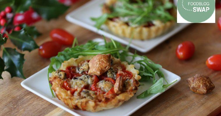 Tomaten tartelettes met gorgonzola