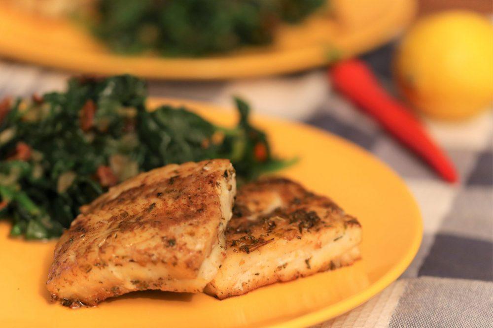 Vis met gyroskruiden, toch een beetje Grieks