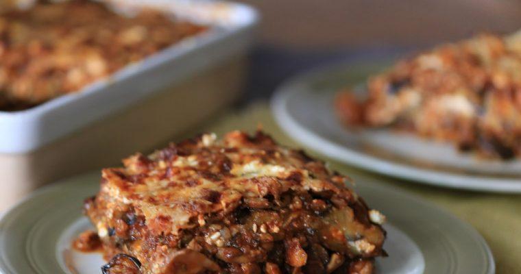 Aubergine lasagne, natuurlijk koolhydraatarm