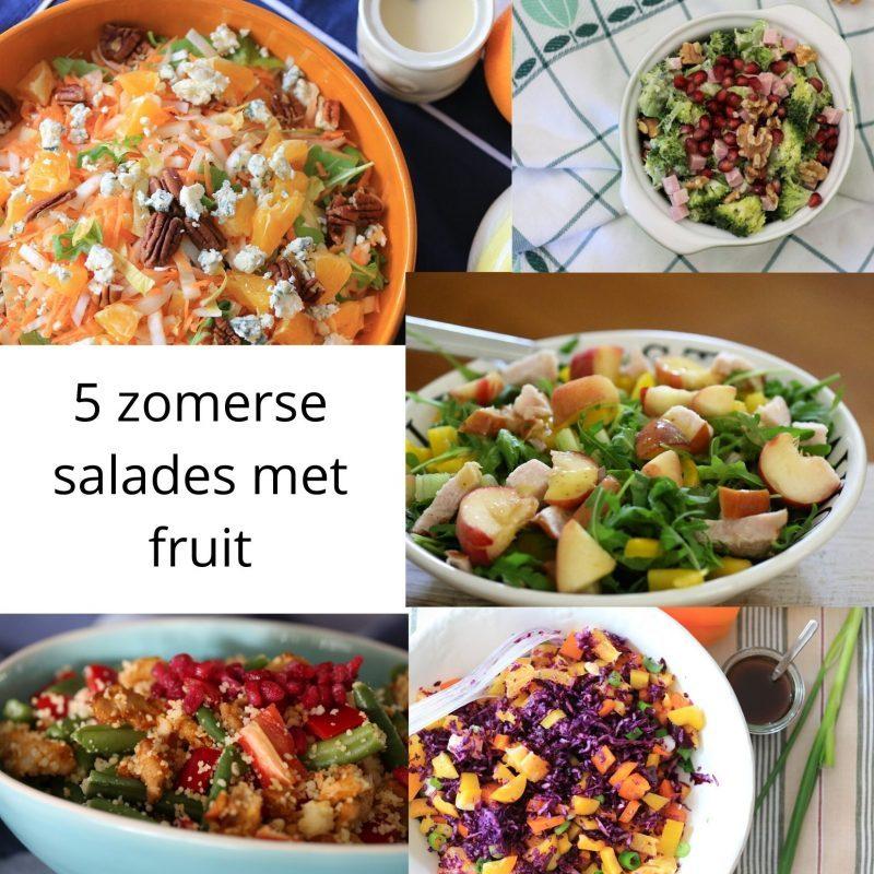 Zomerse salades met fruit, lekker fris!