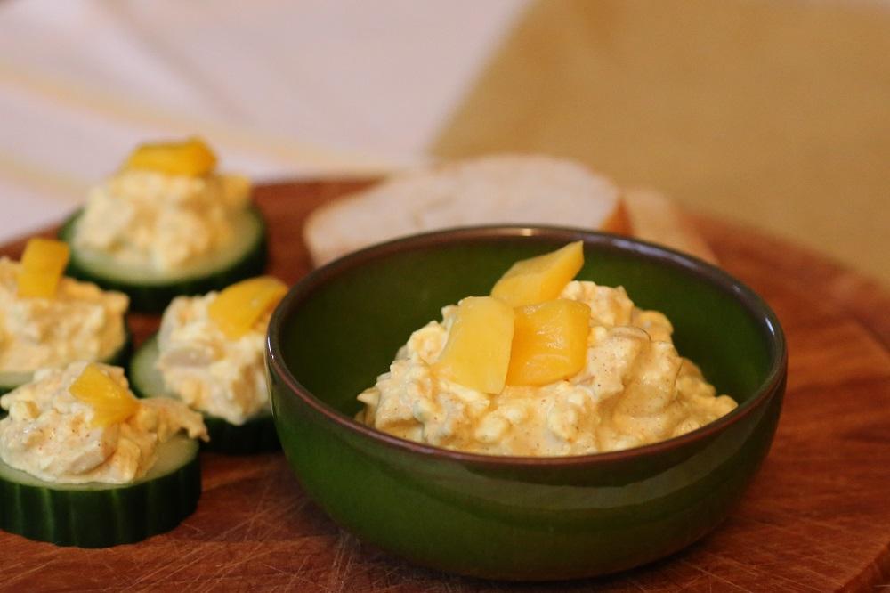 Kip mango salade, voor op een toastje