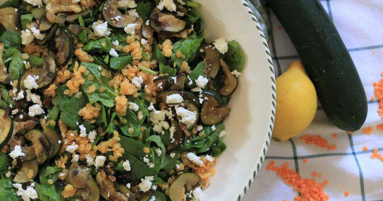 Linzen-courgette salade