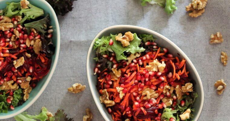 Wortel-bietjes salade met een bite