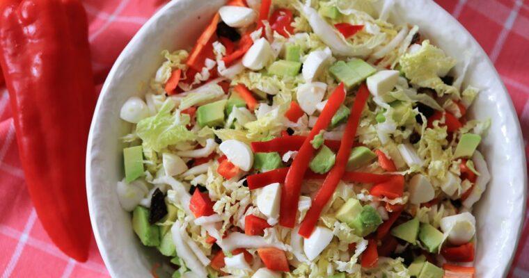 Chinese kool salade met avocado