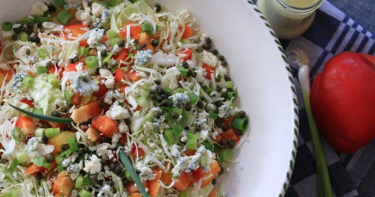 Spitskool salade met paprika