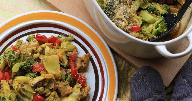 Kip-broccoli-artisjokken ovenschotel