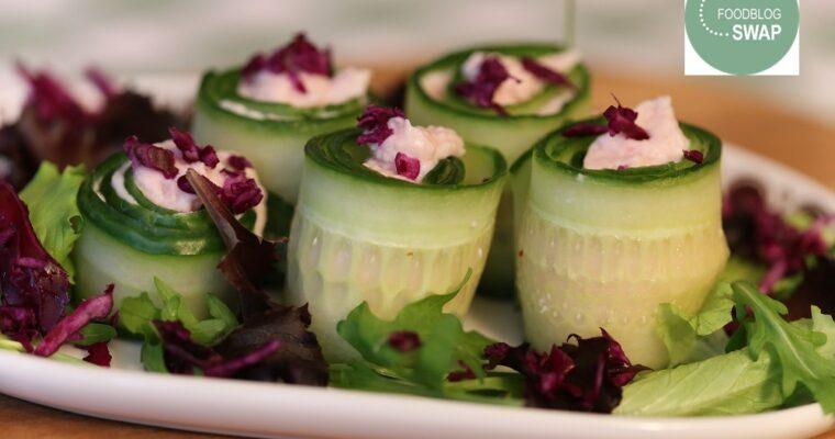 Komkommerrolletjes met hammousse