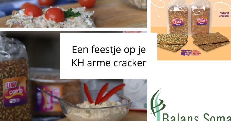 Koolhydraatarme crackers met beleg