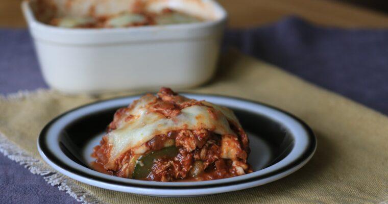 Courgette lasagne; vegetarisch en koolhydraatarm