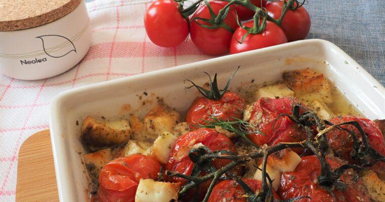 Gegrilde tomaten met halloumi; koolhydraatarm