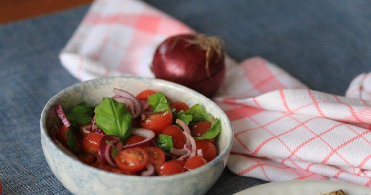 Tomaten salade; uiteraard met de beste ingredienten