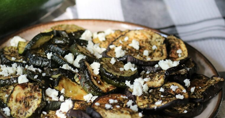 Geroosterde courgettes